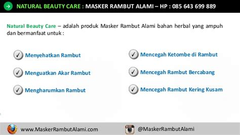 Masker Rambut Nr hp 0856 4369 9889 masker rambut kering dan rontok