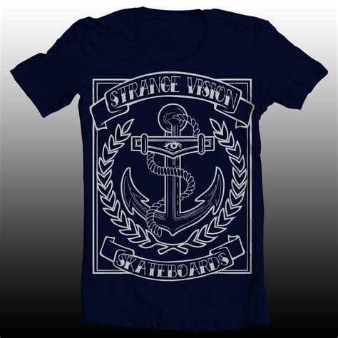 T Shirt Anchor Fighters navy anchor t shirt 183 strange vision skateboard co 183 store powered by storenvy