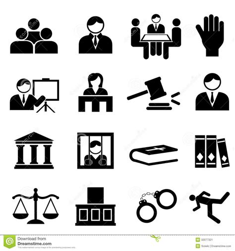 setter define justice and legal icons stock image image 32077321