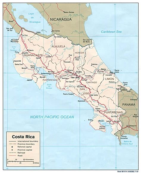 costa rica maps perry casta 241 eda map collection ut