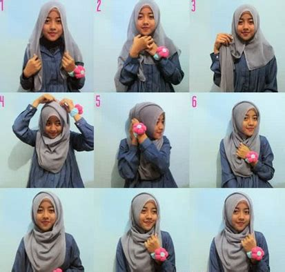 foto tutorial hijab turban segi empat foto tutorial hijab modern segi empat beragam model dan gaya
