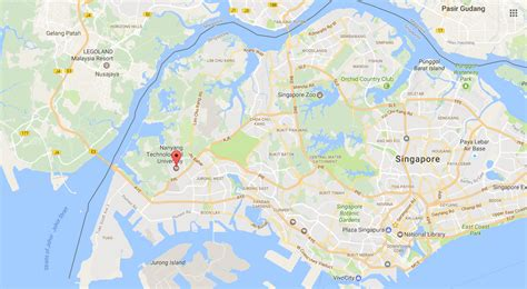 satellite map of singapore this duper slick is of s pore s duper