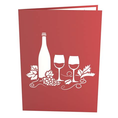 Gift Card Winery - wine glass pop up birthday card lovepop
