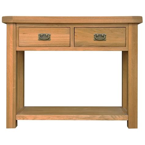 Small Console Table For Hallway Ribble Solid Oak Furniture Small Hallway Console Table Ebay