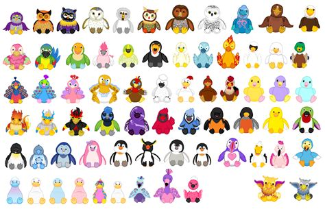 webkinz birds and half birds by slenderlaughplz on
