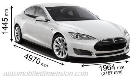 Dimension Tesla Model S abmessungen der tesla autos mit l 228 nge breite und h 246 he