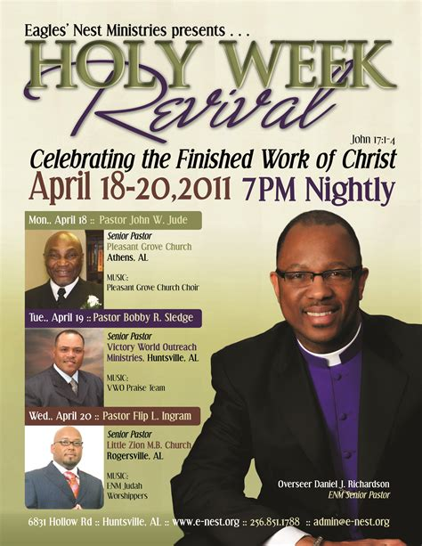 flyer template holy revival church flyers a sista media group