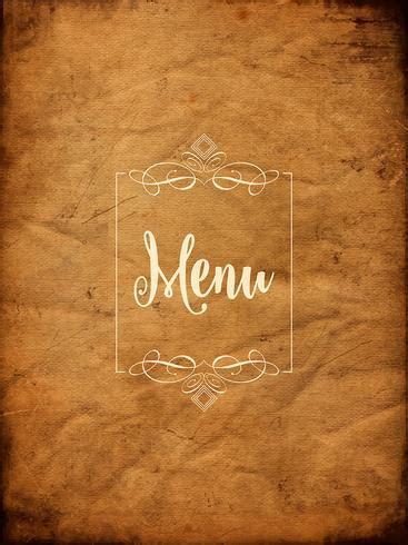 decorative grunge menu background   vector