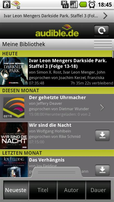 audible for android audible app f 252 r android kopiergesch 252 tzte h 246 rb 252 cher auf dem smartphone abspielen android apps