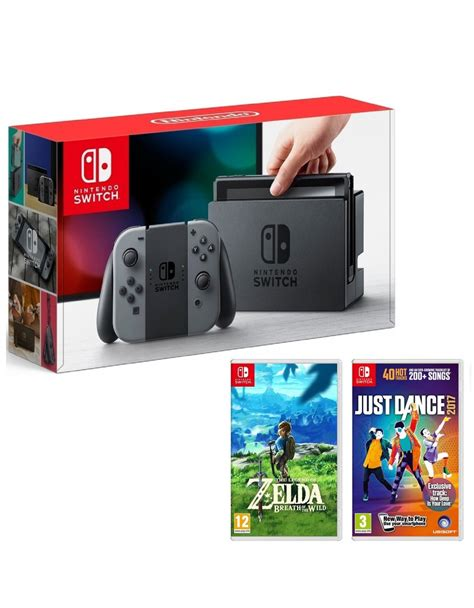 Nintendo Switch Gray The Legend Of Breath Of The nintendo switch 32gb console with grey con controller