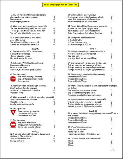 free dmv practice test for california permit 2018 ca driver handbook answers