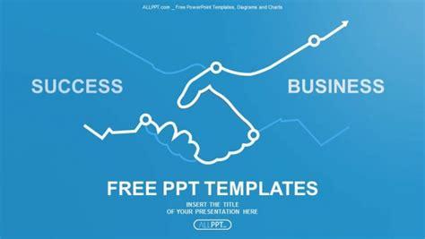 free ppt templates for entrepreneurship abstract illustration handshake powerpoint templates