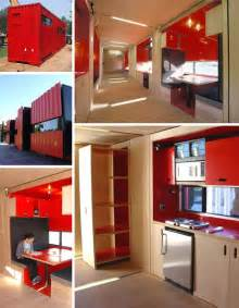 Container Home Interiors 40 Foot Cargo Containers Into Stylish Small Home Spaces