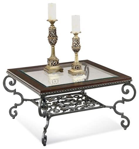 Traditional Coffee Tables And End Tables Bassett Mirror Giordino Square Cocktail Table And 2 Rectangle End Tables T11 Traditional