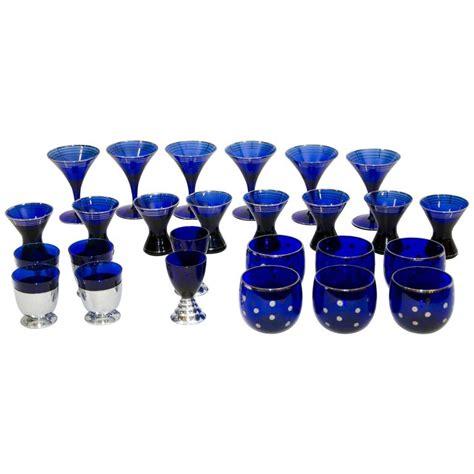 Blue Bar Glasses Collection Of Deco Cobalt Blue Cocktail Or Bar