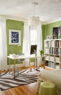 Desks Small Spaces 25 Best Green Home Offices Ideas On Pinterest Green