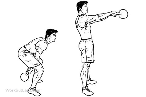 kettle swing exercise two arm kettlebell squat swings workoutlabs