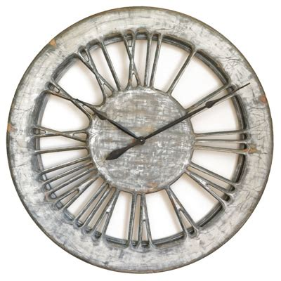 white shabby chic wall clock 40 quot diameter handmade uk
