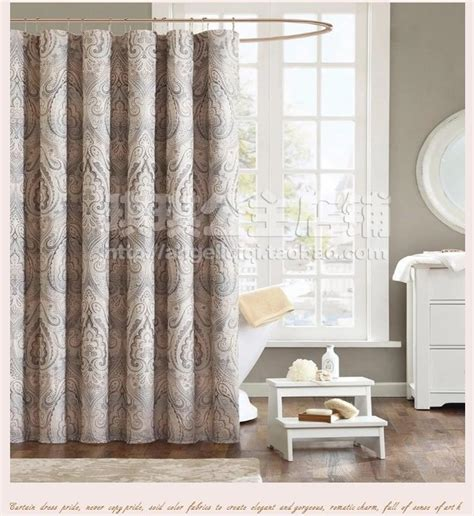 luxury bathroom shower curtains 300cm european fabric curtain thickened curtain waterproof