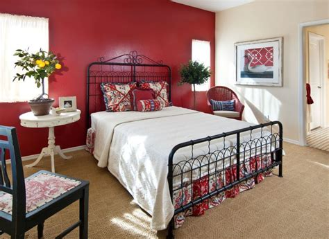 red walls in bedroom how to decorate a bedroom with red walls