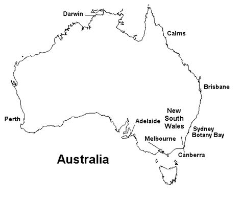 map of southern australia with cities australia
