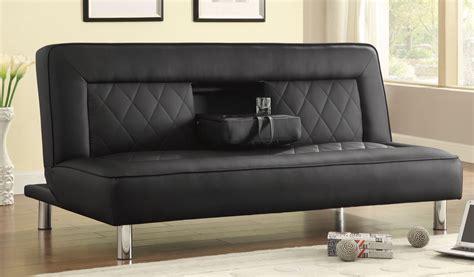 coaster company black sofa bed coaster 500010 sofa bed black 500010 at homelement com