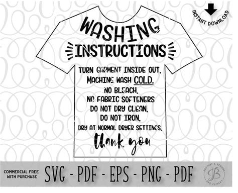 printable iron on vinyl instructions garment care card svg htv wash instructions clothing