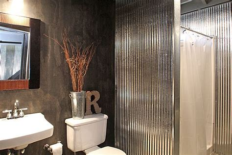 corrugated metal bathroom walls bath with corrugated metal walls home inside pinterest