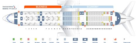 seating chart boeing 777 seat map boeing 777 200 american airlines best seats in
