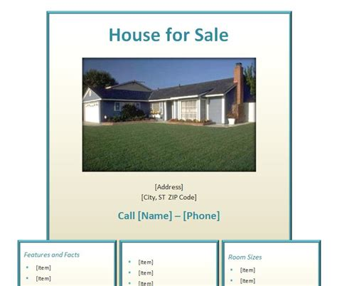 home  sale flyer home  sale flyer template