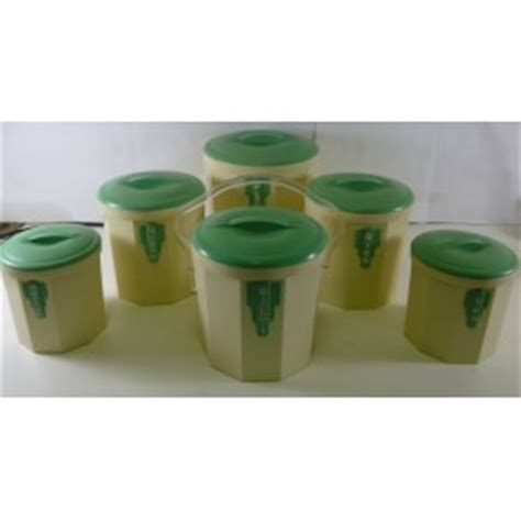 Green Deco Canister the largest collection of pre loved kitchen canisters 2