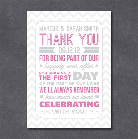 Wedding Thank You Notes by Typography Style Wedding Thank You Notes A Freebie