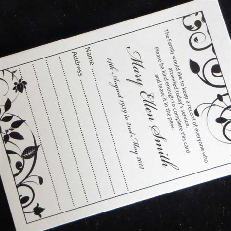 print on demand card games uk 10 funeral attendance cards fat04 ijc your print on demand