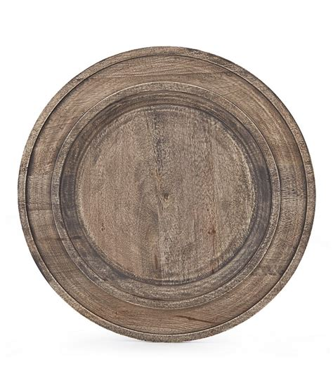 southern living new nostalgia rustic mango wood charger