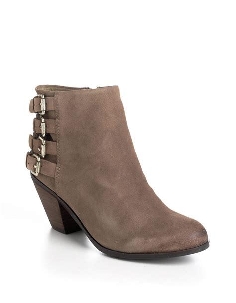 sam edelman ankle boots sam edelman lucca suede ankle boots in beige lyst