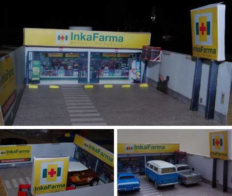 Papercraft Shops - inkafarma shop diorama free paper model