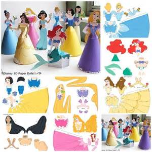 3d Paper Doll Template by 3d Disney Princess Paper Dolls Images