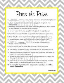 pass the prize game pass the prize game baby shower game