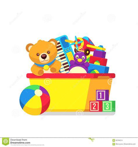 bambini immagini clipart giocattoli dei bambini in clipart di vettore della scatola