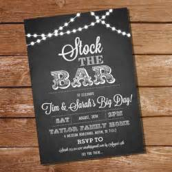 Stock The Bar Invitation Templates by Chalkboard Stock The Bar Engagement Invitation