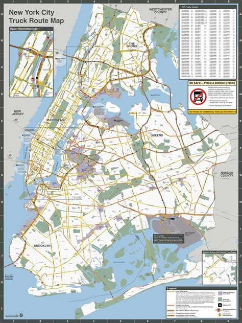 map of new york city tunnels nyc truck routes map maplets