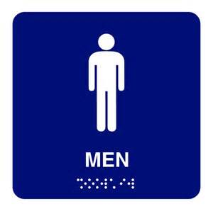 Mens Bathroom Sign 8x8 Men Restroom With Braille