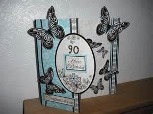 doris s 90th birthday card cardmakingandpapercraft