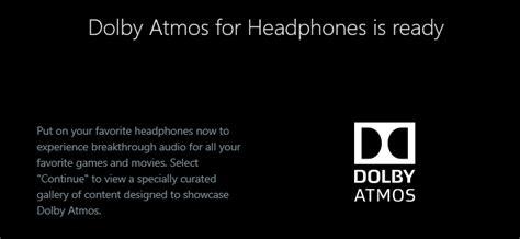 dolby atmos surround sound  windows