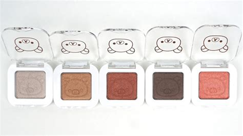 A Pieu Eye Glitter 7 Colors a pieu rilakkuma mineral mono shadow review