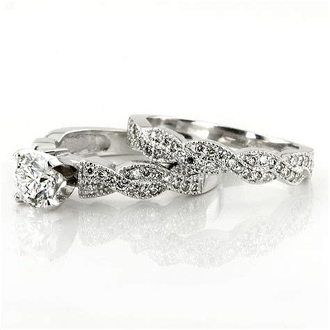 vintage style pave engagement ring band i 25karats