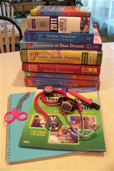 Nursing School Books - adventures of an l d books and supplies
