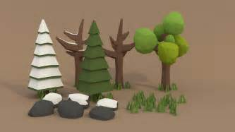 Pigart blender tutorial low poly forest assets youtube