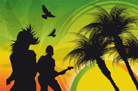 reggae house music reggae music background free vector