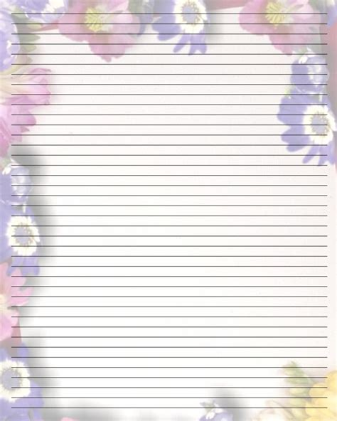 free printable paper templates 9 best images of printable journal paper with lines free